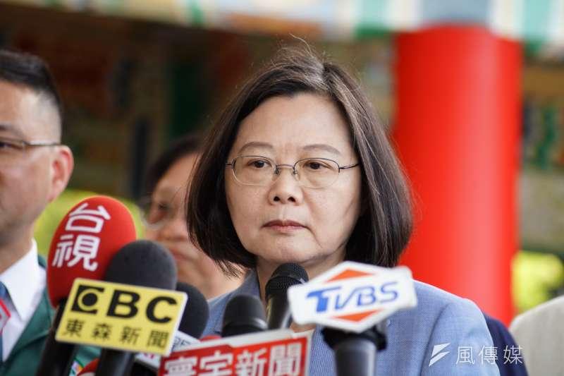 綠黨民調顯示總統蔡英文支持度大勝,但綠黨市議員王浩宇表示,並非沒有隱憂。(資料照片,盧逸峰攝)