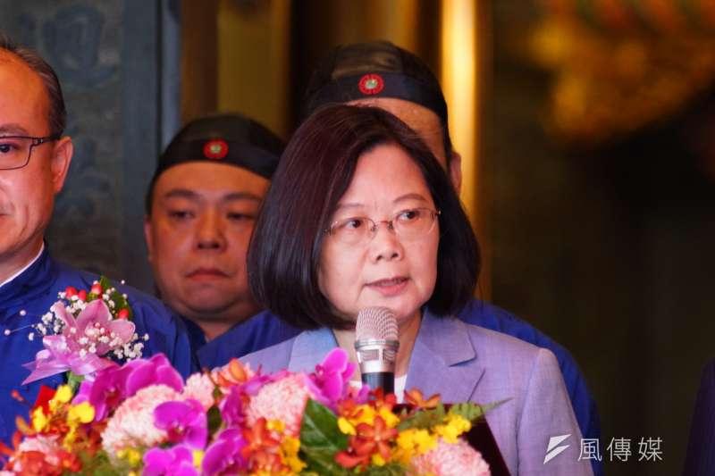 20190620-總統蔡英文出席孚佑帝君成道1139 周年大典。(盧逸峰攝)