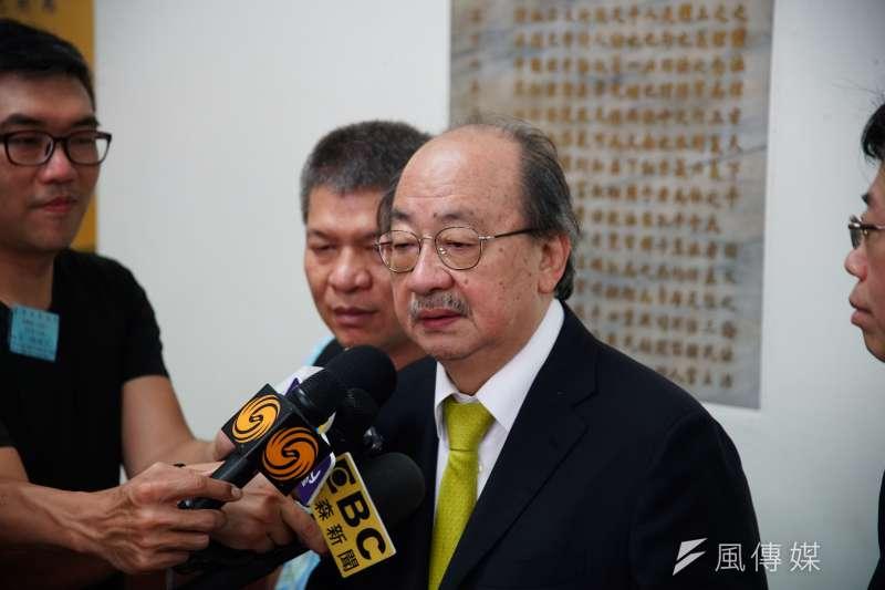 20190621-立委柯建銘於高等法院受訪ˋ。(盧逸峰攝)