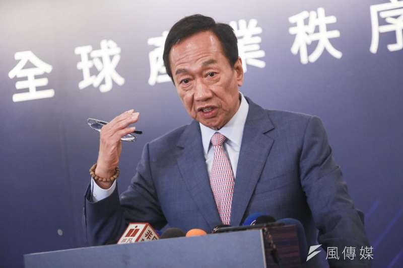 參加國民黨總統初選的郭台銘指出,讓高雄市長韓國瑜留在高雄,由郭台銘參選總統,各司其職、才能發揮最大戰力。(資料照,簡必丞攝)