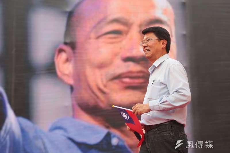 國民黨台南市黨部主委謝龍介(見圖)將出任國民黨總統參選人韓國瑜競選辦公室副執行長,謝認為「換韓」本就是個假議題。(資料照,顏麟宇攝)