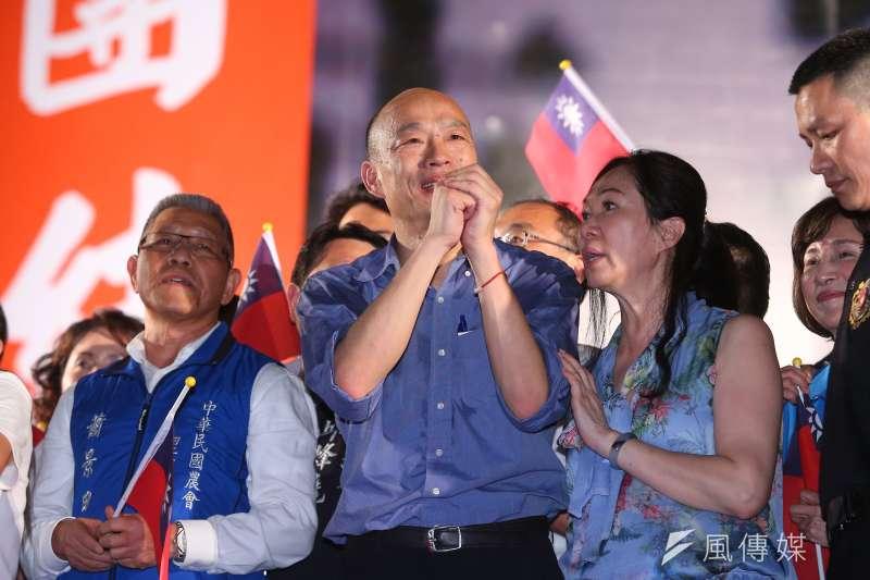 20190622-高雄市長韓國瑜22日出席台中「決戰2020,贏回台灣」韓國瑜造勢活動。(顏麟宇攝)
