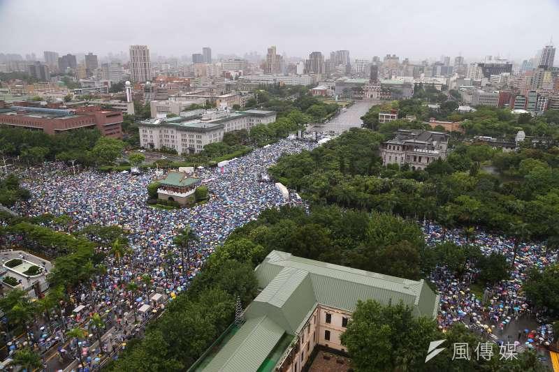 20190623-「拒絕紅色媒體,守護台灣民主」大景。(顏麟宇攝)