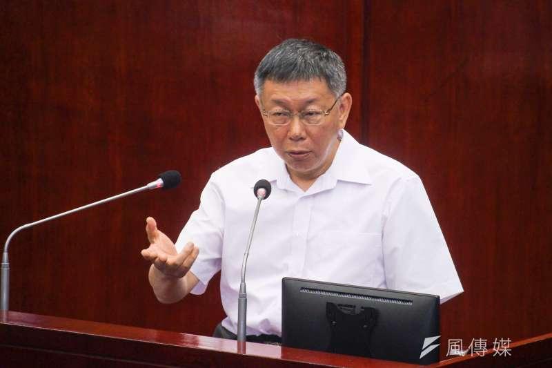 20190624-台北市長柯文哲24日至市議會進行專案報告。(蔡親傑攝)