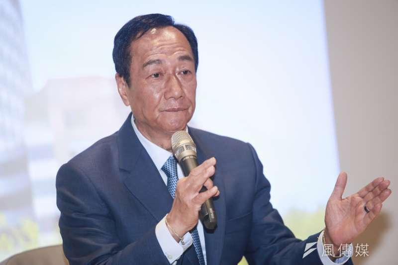 國民黨總統初選參選人郭台銘辦公室否認有第二套劇本。(簡必丞攝)