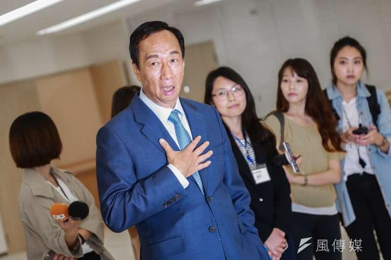 20190624-國民黨總統初選參選人郭台銘至台大癌症醫院參觀。(簡必丞攝)