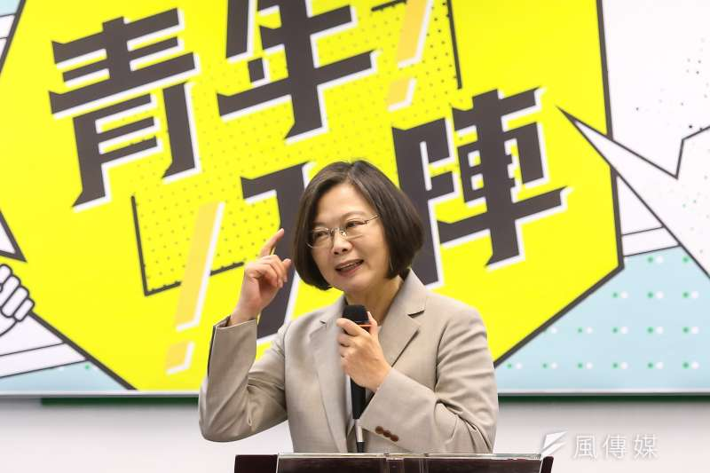 根據綠黨民調,在韓國瑜這組藍綠白三腳督時,總統蔡英文民調落居第三。(資料照片,顏麟宇攝)