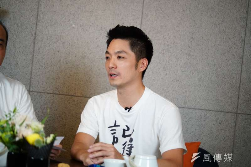 20190625-前立法院長王金平與立委蔣萬安直播。(盧逸峰攝)