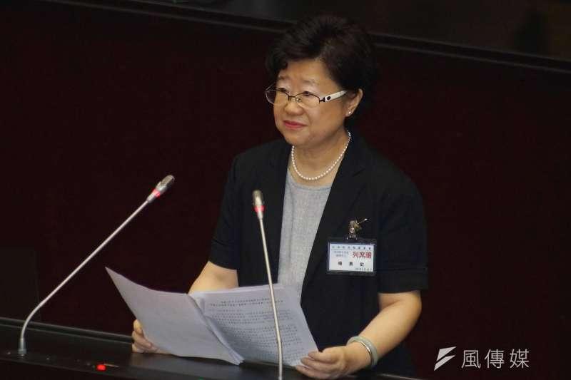 立法院25日進行司法院大法官被提名人詢答,被提名人楊惠欽出席。(盧逸峰攝)