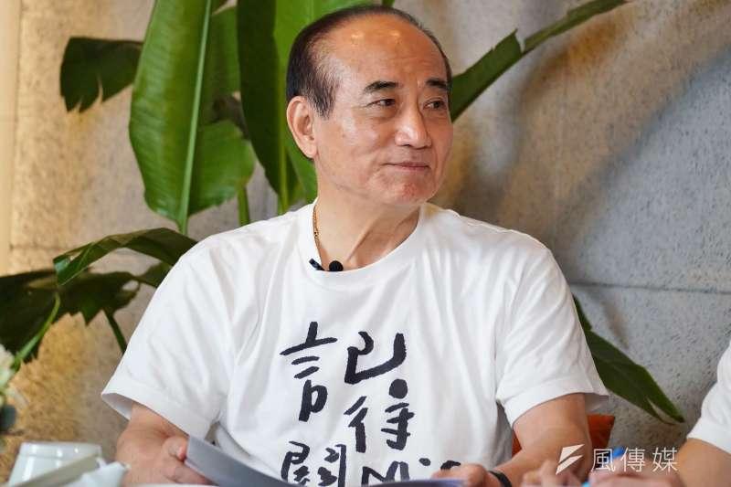 前立法院長王金平25日出席直播活動。(盧逸峰攝)