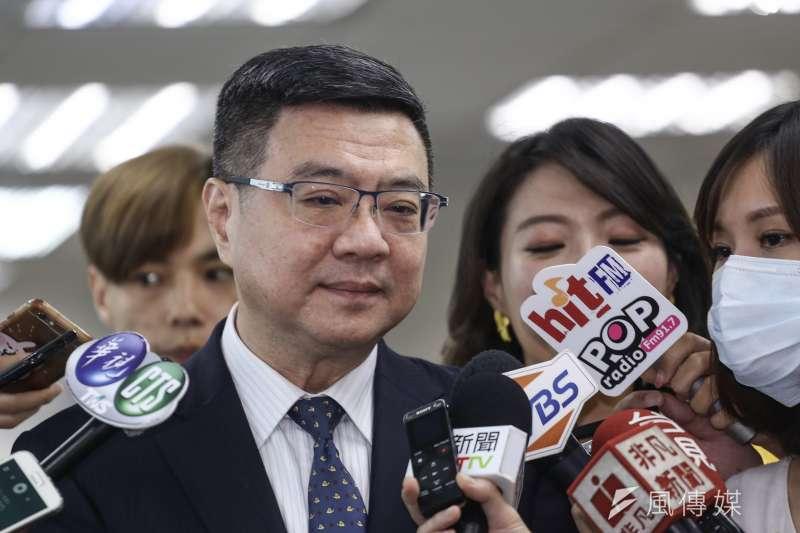 20190626-民進黨中常會,民進黨主席卓榮泰於會前簡單受訪。(陳品佑攝)