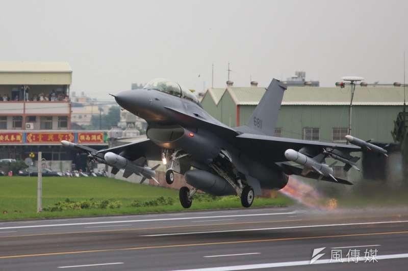在美方通過新採購案後,台灣空軍的F-16V機隊將更壯大。(柯承惠攝)