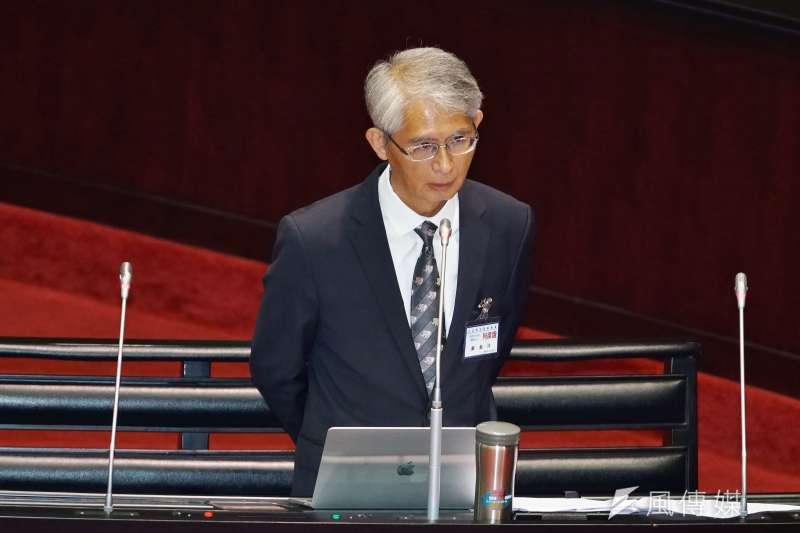 20190625-立法院對司法院大法官被提名人進行詢答,台大法學院教授謝銘洋出席。(盧逸峰攝)