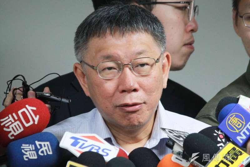 國民黨25日晚間舉行政見發表會,台北市長柯文哲26日表示,自己沒時間看。(方炳超攝)