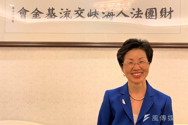 外交專題:海基會董事長、前陸委會主委張小月(簡恒宇攝)