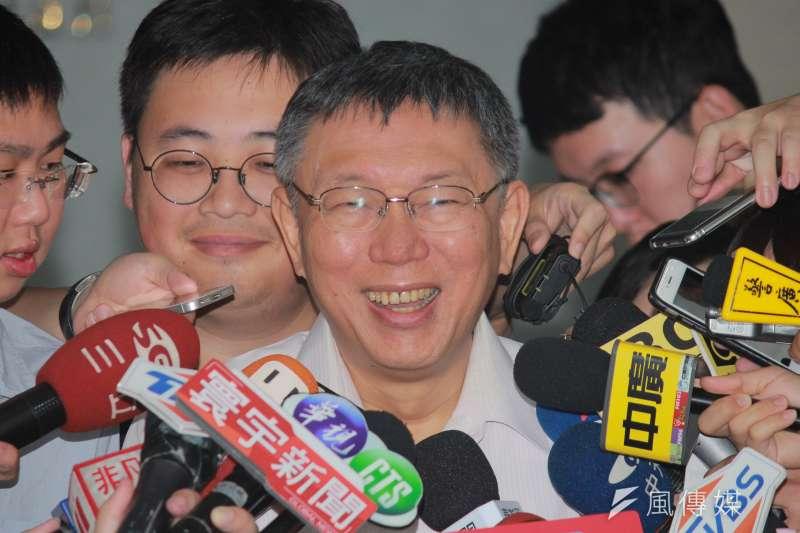 台北市長柯文哲7月3日將率團啟程參加台北上海雙城論壇,詳細行程今天全數公布。(方炳超攝)