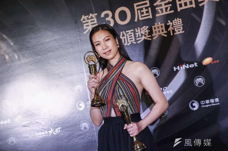 20190629-2019第30屆金曲獎 最佳原住民語歌手獎:雅維 茉芮。(簡必丞攝)