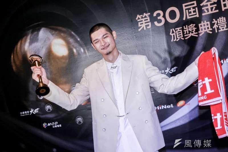 金曲獎最佳國語歌手獎項由饒舌歌手、來自顏社的Leo王奪下。(簡必丞攝)