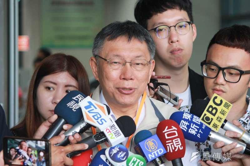 20190629-台北市長柯文哲29日前往屏東進行市政交流。(方炳超攝)