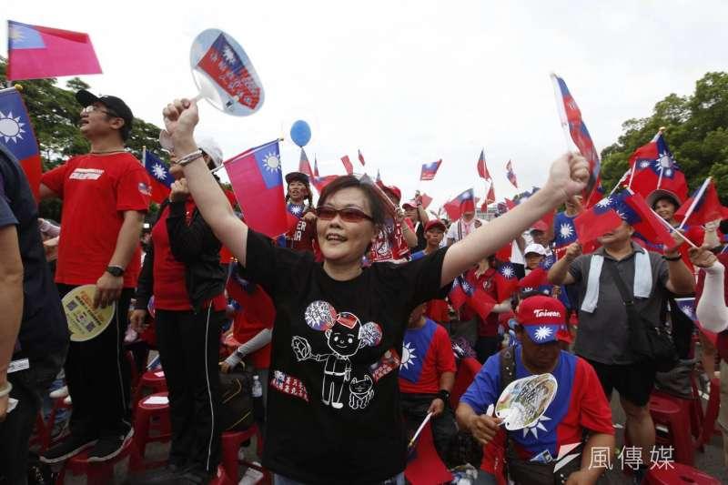 20190630-高雄市長韓國瑜30日在新竹縣政府廣場舉辦造勢活動。(新新聞郭晉瑋攝)