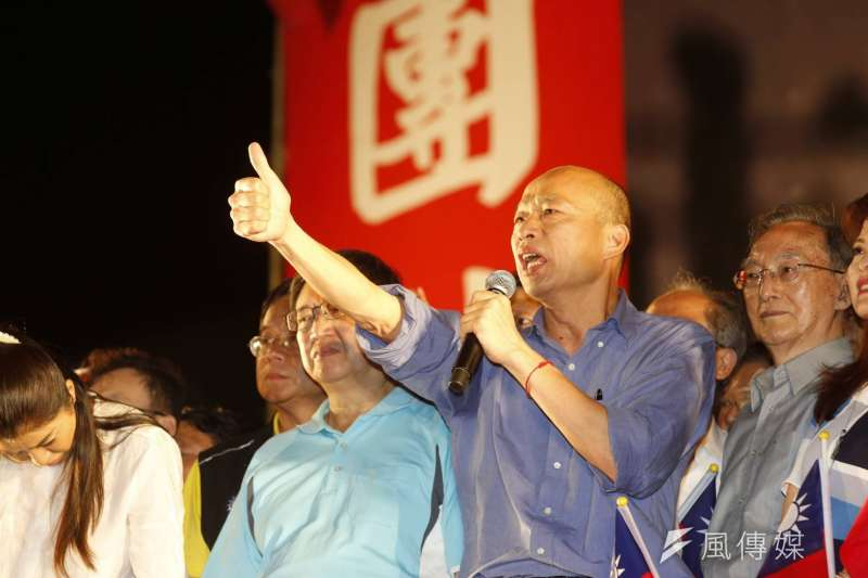 20190630_高雄市長韓國瑜(前右二)比讚,在新竹封關造勢。(新新聞郭晉瑋攝)