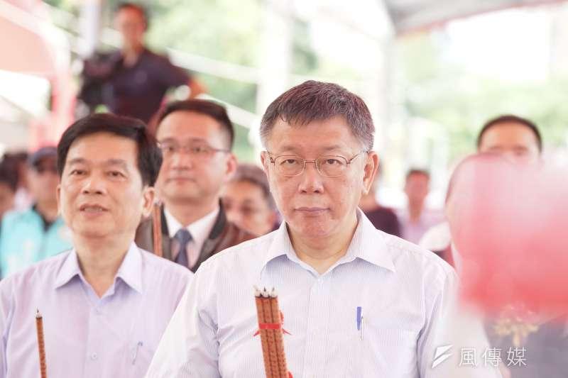 台北市長柯文哲3日將前往上海參加雙城論壇,上海市長應勇表示,期待和柯文哲會面。(資料照片,盧逸峰攝)