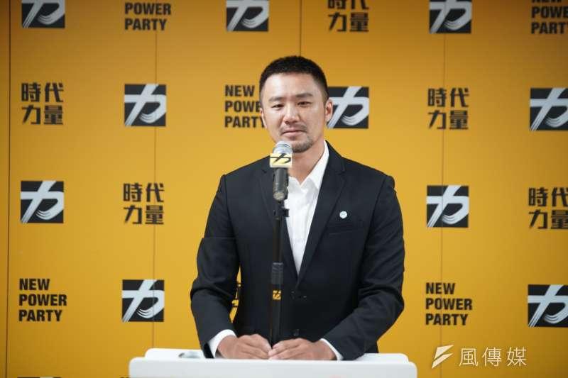 20190702-時代力量決策委員會會後記者會,發言人陳志明主持。(盧逸峰攝)