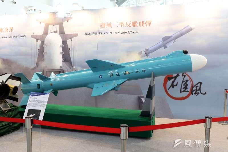 20190702_國防展展示雄風二型飛彈模型。雄風飛彈。(資料照,蘇仲泓攝)