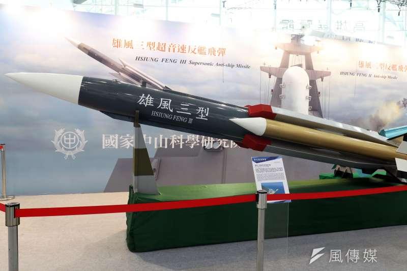 20190702_國防展展示雄風三型飛彈模型。雄風飛彈。(資料照,蘇仲泓攝)