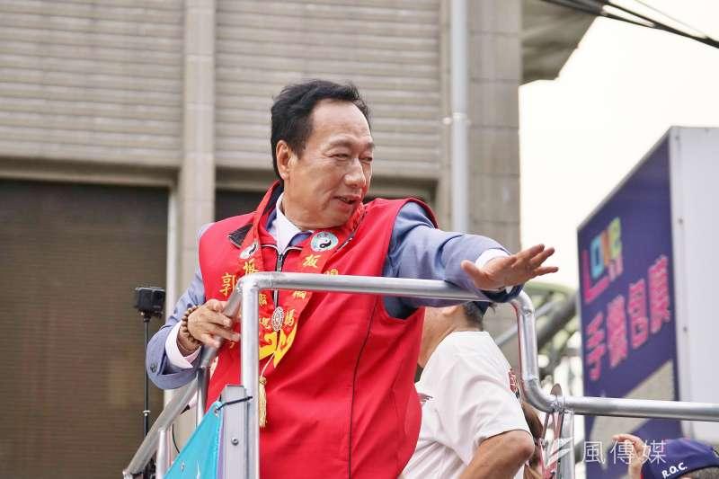 前鴻海董事長郭台銘10日表示希望民眾要認知,選擇比努力更重要,2300萬同胞要珍惜選擇,他不希望「義和團」的事情再發生。(資料照,盧逸峰攝)