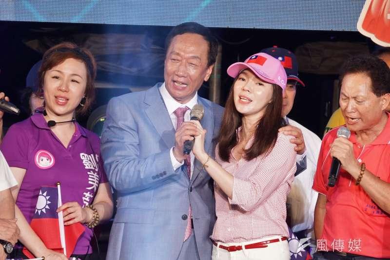 雖然郭台銘在國民黨總統初選落敗,但其妻曾馨瑩的心情未受影響。(資料照,盧逸峰攝)