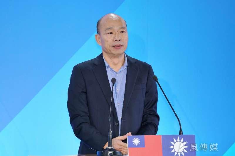 高雄市長韓國瑜主張,在安全無虞和人民同意之下,繼續使用核能,包括重啟核四。(盧逸峰攝)