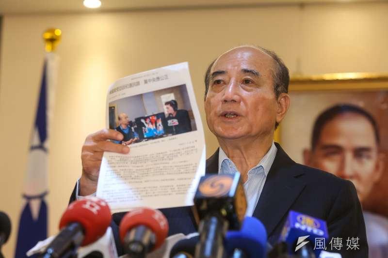 20190703-前立法院長王金平3日針對國民黨內初選亂局召開記者會。(顏麟宇攝)