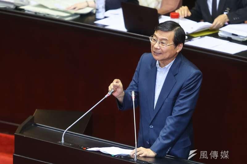20190703-國民黨立委曾銘宗3日針對「兩岸人民關係條例」修法發言。(顏麟宇攝)