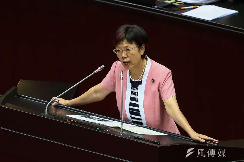20190704-民進黨立委尤美女4日於「政治檔案條例」立法時發言。(顏麟宇攝)