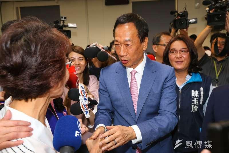 國民黨總統初選參選人郭台銘之前提出課富人稅,他6日在臉書發文表示,只有他懂得如何課富人稅。(資料照片,顏麟宇攝)