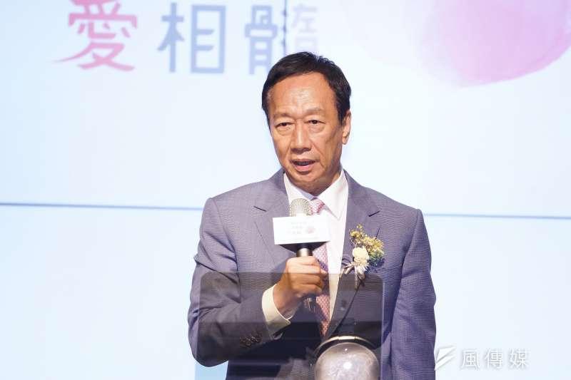 Lamigo桃猿隊有意轉賣,前鴻海集團董事長郭台銘(見圖)5日表示他推薦的買主正在與球隊洽談中。(資料照,盧逸峰)