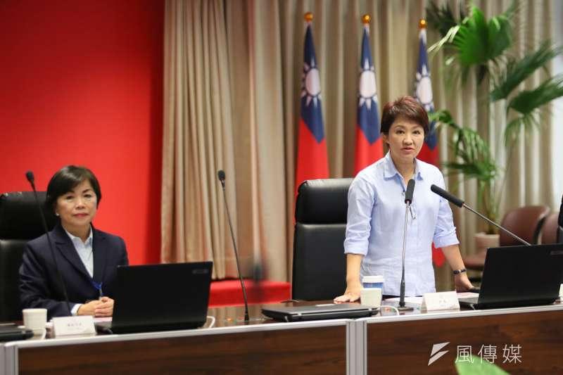 楊瓊瓔(左)傳將離去,將削弱盧秀燕(右)市政團隊氣勢。(柯承惠攝)