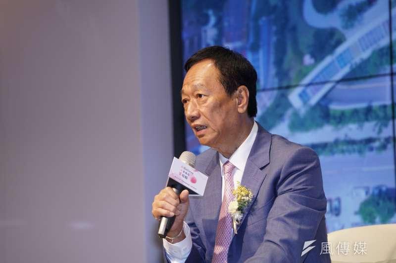 國民黨總統初選參選人郭台銘提出0-6歲國家養政策。(資料照,盧逸峰攝)
