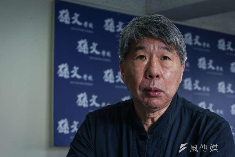 總統蔡英文日前接受外媒專訪時,強調「台灣是個主權獨立的國家,名叫中華民國台灣」。對此,孫文學校校長張亞中(見圖)直指,蔡英文已「吹起求戰的號角」。(陳品佑攝)