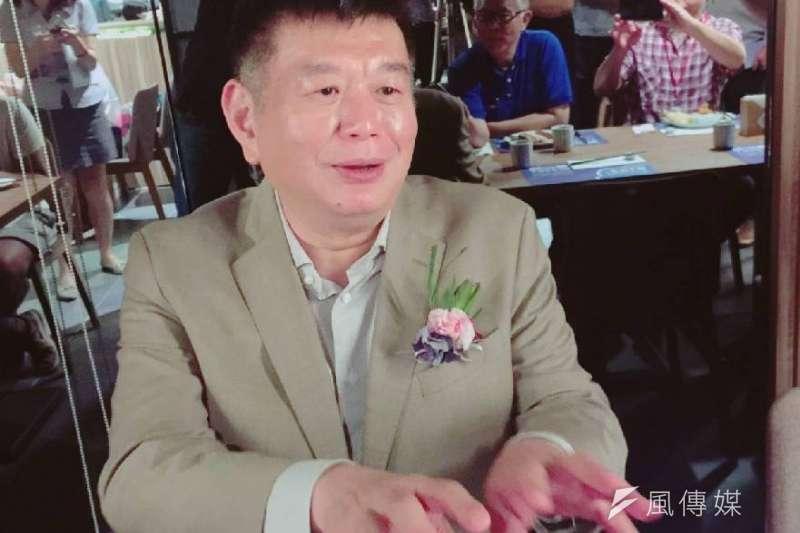 興富發總裁鄭欽天說,選擇在高雄做為起點,他有信心年營收目標可達20億元。(圖/徐炳文攝)