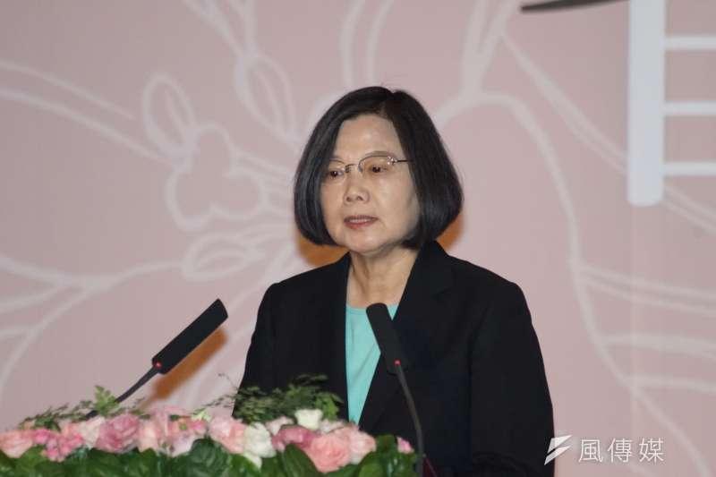 總統蔡英文7日出席「第3、4波平復司法不法刑事有罪判決撤銷公告儀式」。(盧逸峰攝)