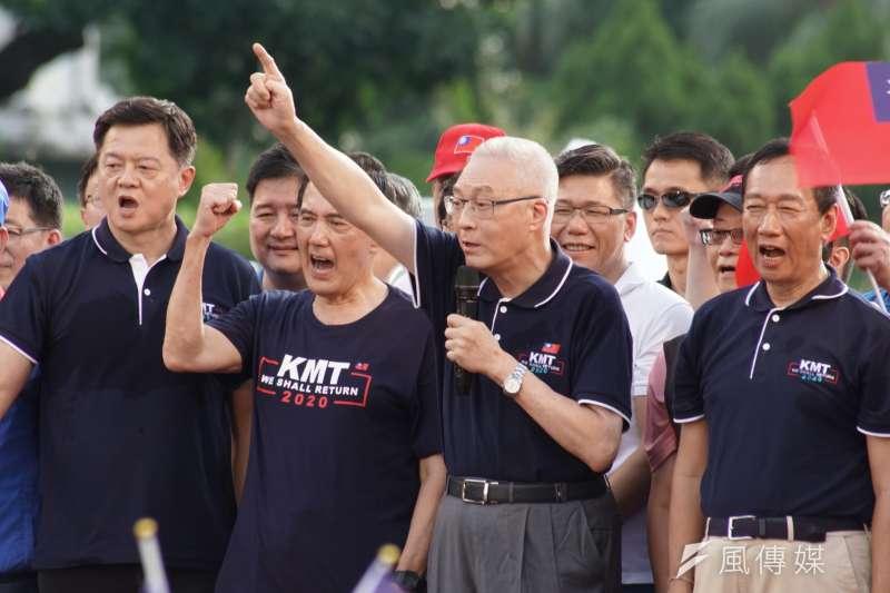 20190707-20190707-國民黨反鐵籠公投凱道大會師活動,主席吳敦義出席。(盧逸峰攝)