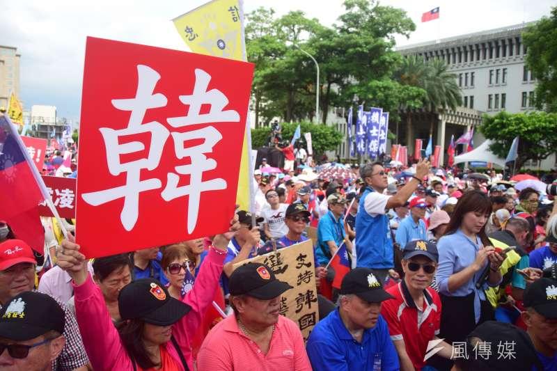 20190707-國民黨舉辦反鐵籠公投凱道大會師。(吳俊廷攝)