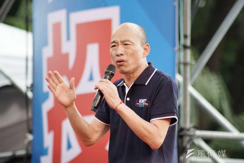 代表深藍鐵票的軍系六大社團暨三軍退伍軍人代表,5日共同發表聲明,表示會力挺國民黨提名的總統參選人韓國瑜(見圖)及立委參選人。(資料照,盧逸峰攝)