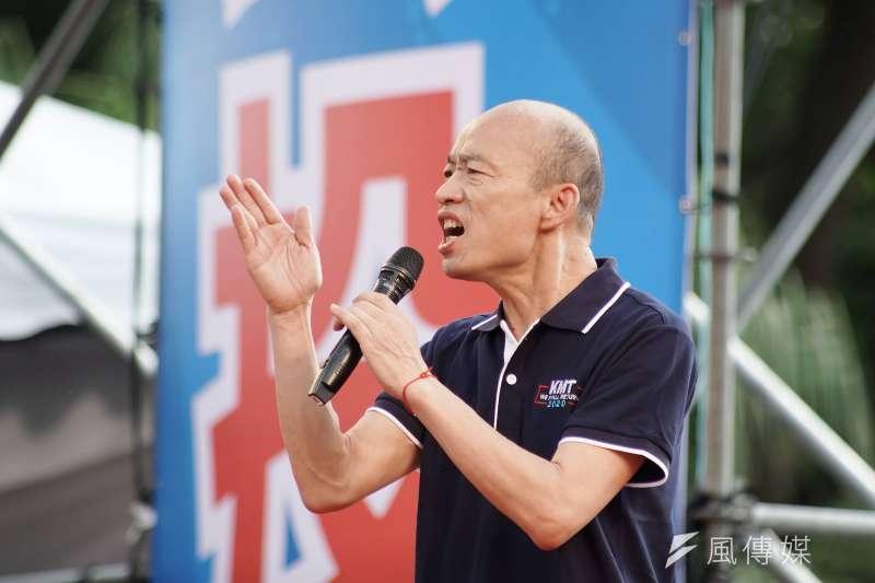 高雄市長韓國瑜否認「自比唐三藏」,並不滿表示「為什麼我沒有講的話,每次都要栽到我頭上?」(資料照,盧逸峰攝)