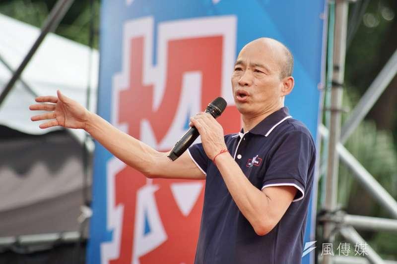 高雄市長韓國瑜(見圖)接受中天專訪,稱自己生平首次投票是22歲時投給「民進黨立委候選人方素敏」,這番言論言論卻遭網友打臉。(資料照,盧逸峰攝)