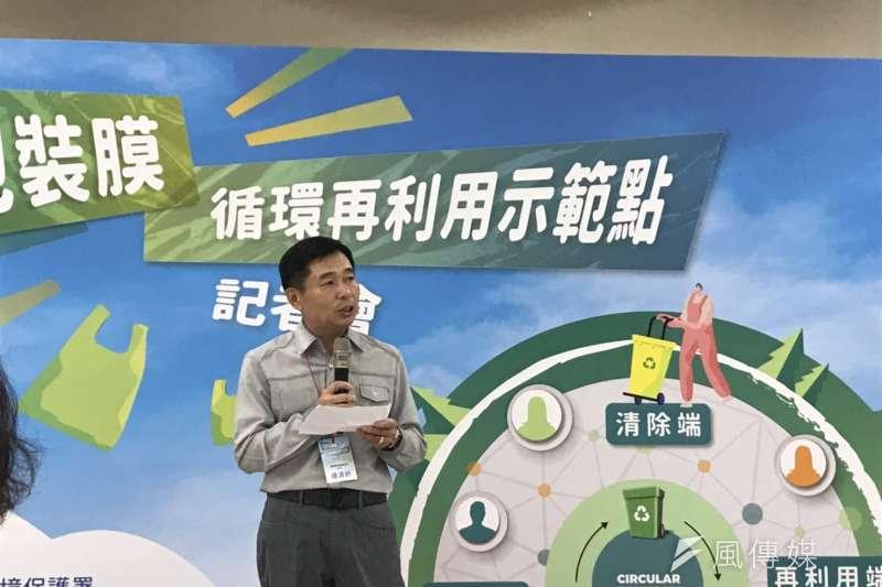 塑膠包膜回收。循環經濟。20190709_東芳塑膠董事長鍾清鈐。(廖羿雯攝)