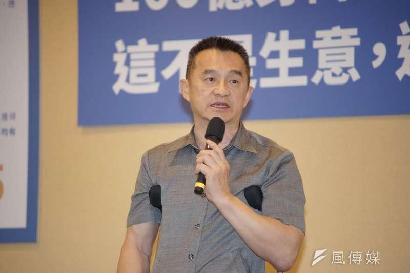 前行政院秘書長徐中雄接受採訪時表示「九二共識沒有罪,買辦有罪;國民黨沒錯,買辦有錯」。(資料照,盧逸峰攝)