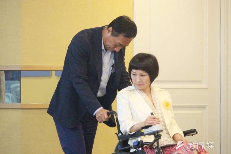 20190709-國民黨總統初選參選人郭台銘召開身障保險社會福利記者會。(吳俊廷攝)